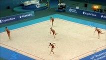 Bulgaria. Final 10 mazas. Medalla de oro. Baku 2014