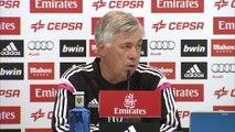 "Carlo Ancelotti: ""Un día pondré a Sergio Ramos de delantero"""