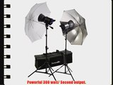 Interfit INT427 Stellar X 300 Watt/Second 2 Head Kit with Umbrellas