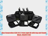 iKan Corporation iLED 312 3 Point Light Kit with bag and Stands Black (iled312-Kit)