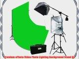 10 x 12 Chromakey Green Screen Background Support Stand 2400 Watt Photography Studio Lights