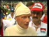 F1 Austrian GP 1985 Niki Lauda Interview