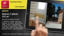 A vendre - maison - SALLES D AUDE (11110) - 7 pièces - 155m²