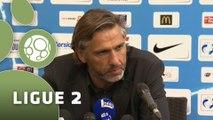 Conférence de presse Tours FC - Chamois Niortais (1-0) : Gilbert  ZOONEKYND (TOURS) - Régis BROUARD (NIORT) - 2014/2015