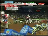 2010 AMA Supercross Round 2 Phoenix  - Chad Reed and James Stewart CRASH