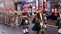 Scots Homecoming Parade Royal Regiment Forfar Scotland April 19th