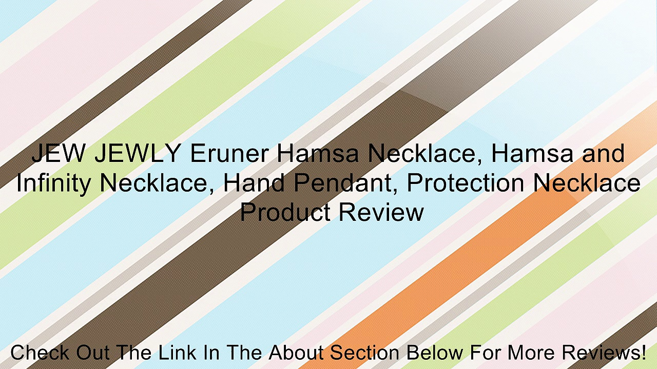 JEW JEWLY Eruner Hamsa Necklace, Hamsa and Infinity Necklace, Hand Pendant, Protection Necklace Review