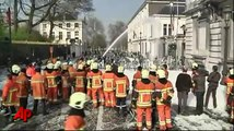 Protesting Firefighters Spray Police With Foam