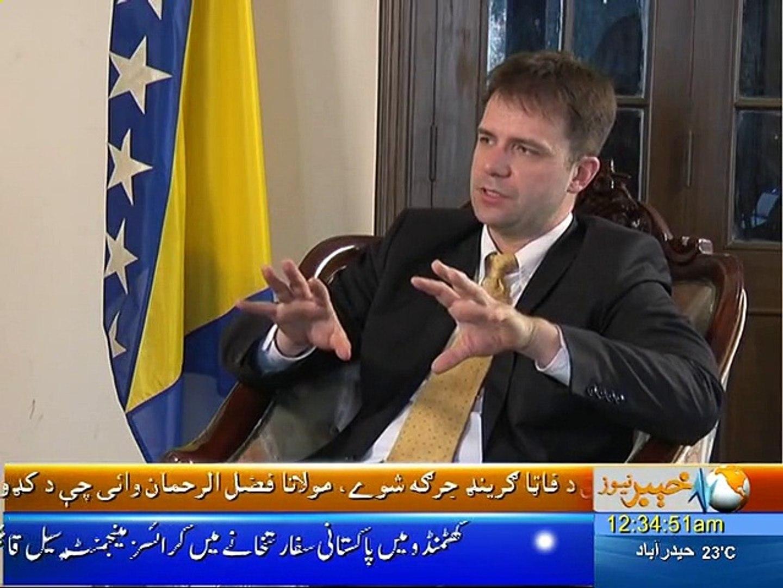 Nadia Khattak Special Interview With Bosnian Ambassador Dr Nedim Makarevic Khyber News Part-01