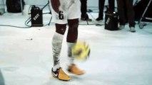 La Juventus con Pogba sfida il campione italiano di calcio freestyle Gunther Celli
