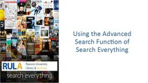 Search Everything  Advanced Search