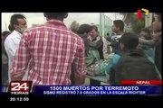 Terremoto de 7.9 grados en Nepal deja 1,500 muertos y cientos de heridos