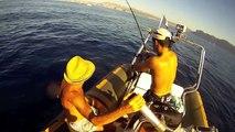 Pêche d'un gros Loup au large de Marseille - Bar - SeaBass ! GoPro HD