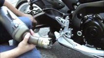 yoshimura r55 exhaust yamaha r6 baffle out - video dailymotion