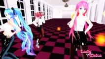 MMD- Gishinanki - Megurine Luka♥ Miku Hatsune♥Kagamine Rin♥Kasane Teto