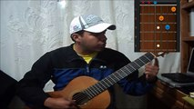 Como tocar circulo de Do en guitarra acustica (principiantes)