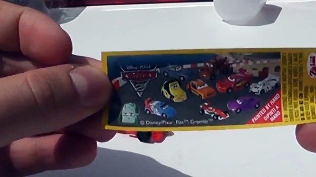 Disney Pixar Cars 2 Surprise Eggs Unboxing  Kinder chocolate, surprise eggs, play doh surprise eggs