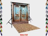 PRINTED Doors PHOTOGRAPHY BACKGROUND AND FLOOR DROP BACKDROP COMBO COMBO111 BOTH ITEMS a 5'x6'