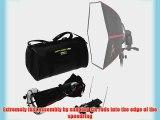 SMDV Diffuser-50 -- Professional 20x20 Rigid Softbox for Nikon Flash SB-910 SB-900 SB-800 SB-700