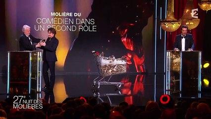 Thierry Frémont reçoit le Molière du Comédien dans un second