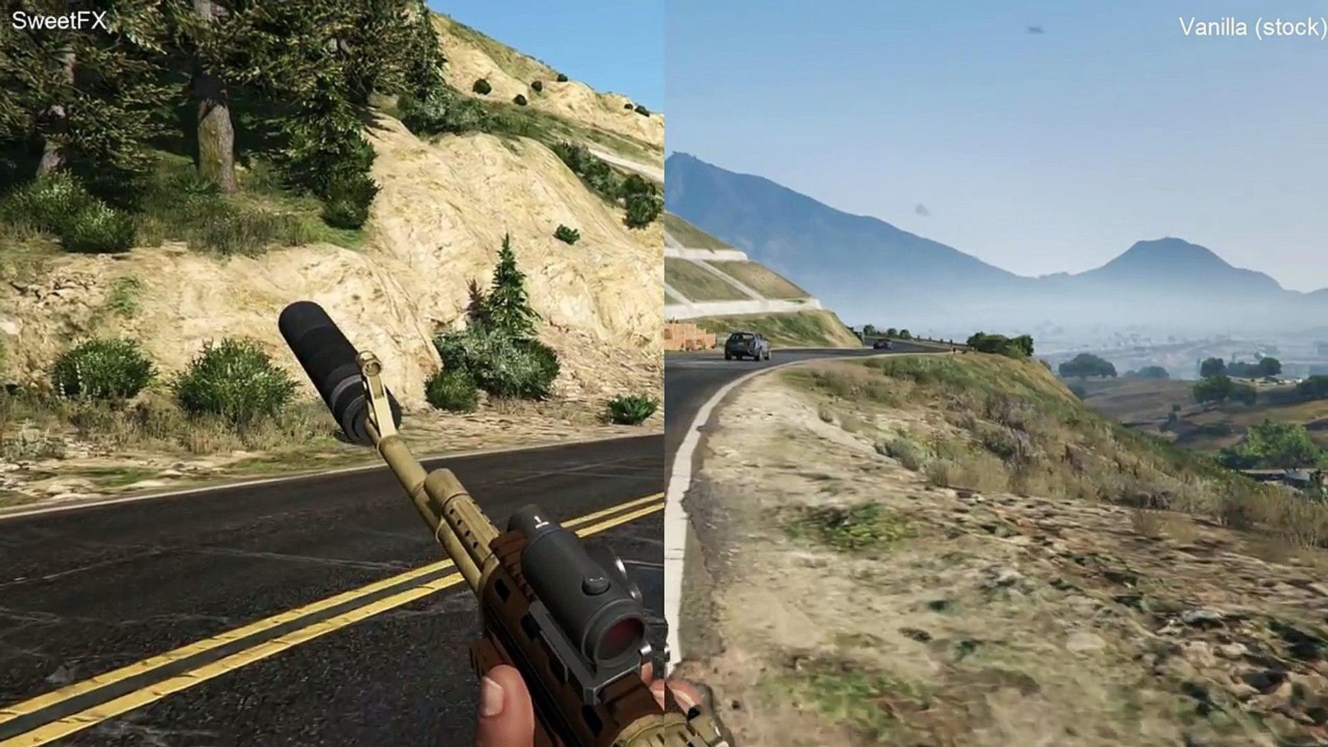 GTA 5 PC Mods SweetFX Graphics Mod Compare HD