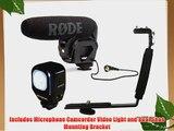 Rode VideoMic Pro Compact Directional On-camera Shotgun Microphone with Polaroid CVL-18 Studio