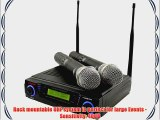 Pyle-Pro PDWM3300 Wireless Professional UHF Dual Channel Microphone System With 2 Microphones