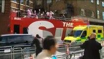 Royal Baby : l'attente s'organise devant l'hôpital St-Mary de Londres