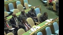 Mugabe talking about NATO bombing in Libya at UN assembly