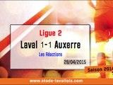 (J34) Auxerre 1-1 Laval, réaction de JL Vannuchi