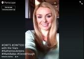 Katherine Jenkins on Periscope LIVE stream talks DWTS 10th Anniversary, Mark Ballas & Derek Hough