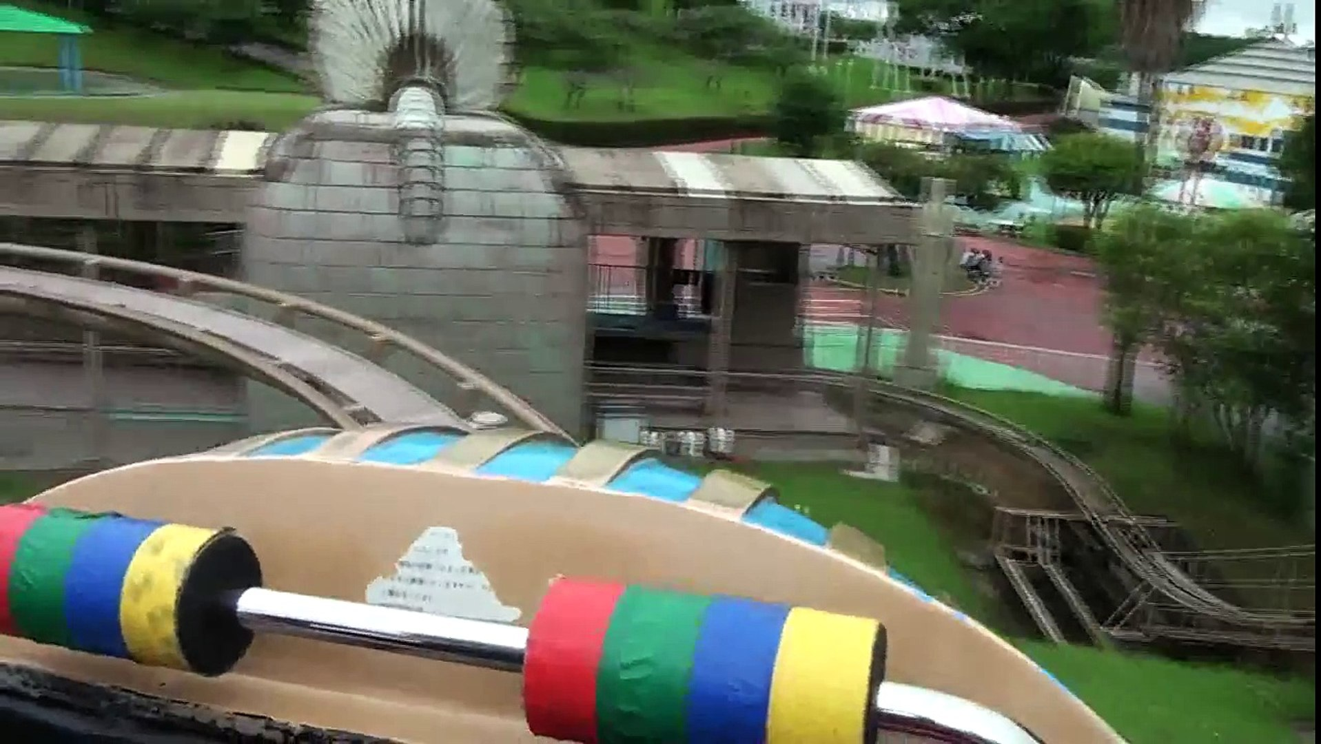 Sphinx Roller Coaster POV Kiddie Family Coaster Mitsui Greenland Japan HD 1080