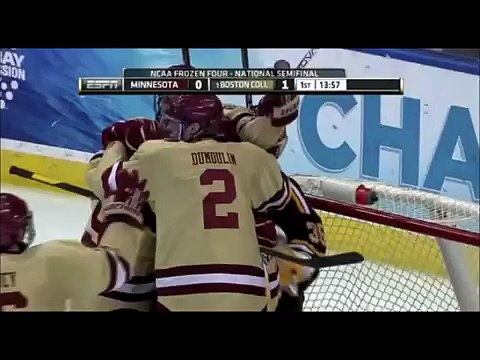 #1 Boston College throttles #8 Minnesota 6-1 to advance to the 2012 NCAA Men's Hockey Championship