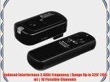 Vello FreeWave Plus Wireless Remote Shutter Release - 2.4GHz (for Sony Alpha) - Sony: Alpha
