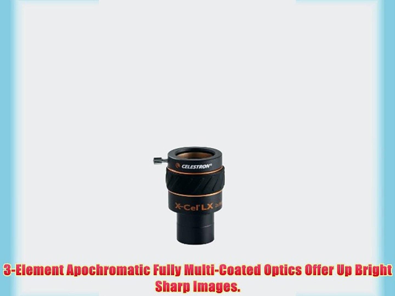 Celestron X-CEL LX 12 mm//1.25 pulgadas ocular 93424