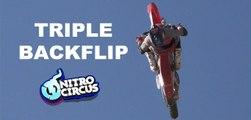 The World Triple Backflip on a dirtbike !!!
