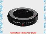 Fotodiox Pro Lens Mount Adapter Olympus OM Zuiko 4/3 (OM 4/3) Lens to Micro 4/3 (MFT) Camera