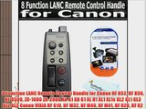 8 Function LANC Remote Control Handle for Canon HF R52 HF R50 HF R500 ZR-1000 ZR-2000 XH A1