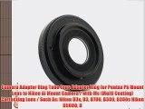 Camera Adapter Ring Tube Lens Adapter Ring for Pentax Pk Mount Lens to Nikon Ai Mount Camera