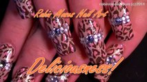 Nail Art Tutorials | DIY Soft Pink Leopard & Diamonds Nails