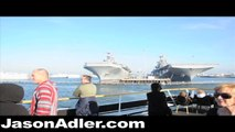 NAVAL BASE IN SAN DIEGO CALIFORNIA BOAT TOUR - IN HD