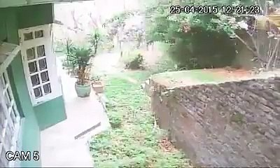 Nepal Earthquake 25 April - Security cam footage of my cousin's place