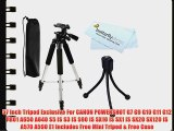 57 Inch Tripod Exclusive For CANON POWERSHOT G7 G9 G10 G11 G12 PRO1 A650 A640 S5 IS S3 IS S90
