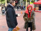Street Preacher attacked by angry woman