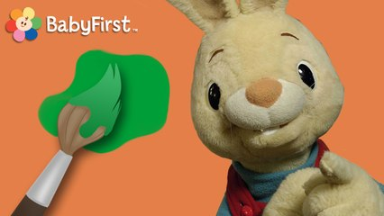 Henri le lapin. Apprenons ensemble les couleurs! - vert