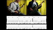 6) Rammstein - Links 2-3-4 (Guitar & Bass lesson + TABs)