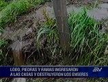 Casas, cultivos y animales sepultados por deslave en parroquia de Chimborazo