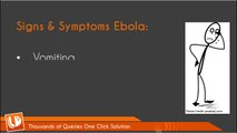 Ebola Virus: Signs - Symptoms - Prevention and Control