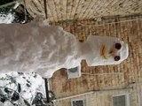 בובת שלג ירושלים The Snowman    Snowman snow  man Jerusalem  2014