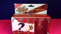 Kidrobot Street Fighter Mini Figure 2 Pack!  Sagat with Blind Box Mystery Figure!